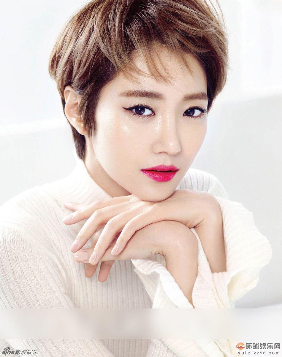 韩星高俊熙精致写真 红唇短发分外性感