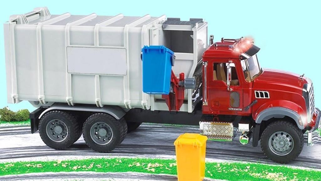 挖土机和垃圾车一起清理道路上的垃圾