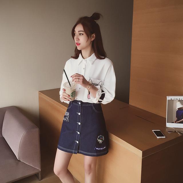 搭配半身裙的上衣_穿衣巧搭配, 上衣+半身裙甜美减龄还显高, 搭配小白鞋活力十足