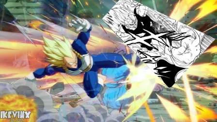 【游侠网】《龙珠格斗Z》超级赛亚人蓝贝吉塔原著对比