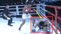 20战14胜日本拳王被中国小将暴打无法招架,开局仅4秒被一拳击倒了!