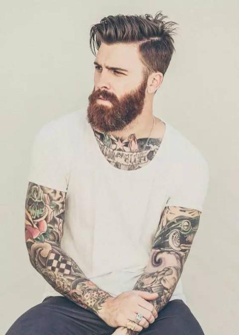 欧美发型师纹身素材