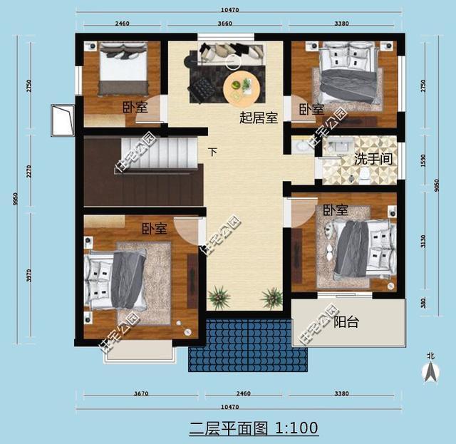 高层两层楼打通楼中楼 3套两层农村别墅房型 30万轻松