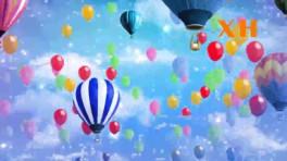 少儿卡通梦想追梦大梦想家天空气球舞蹈led大屏幕背景视频素材图片