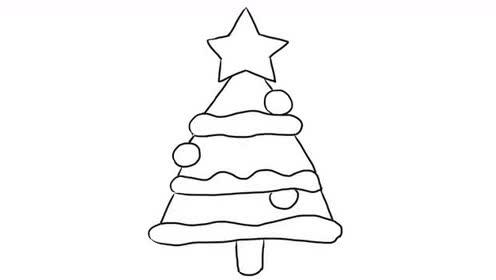 圣诞树 小耳朵简笔画教程