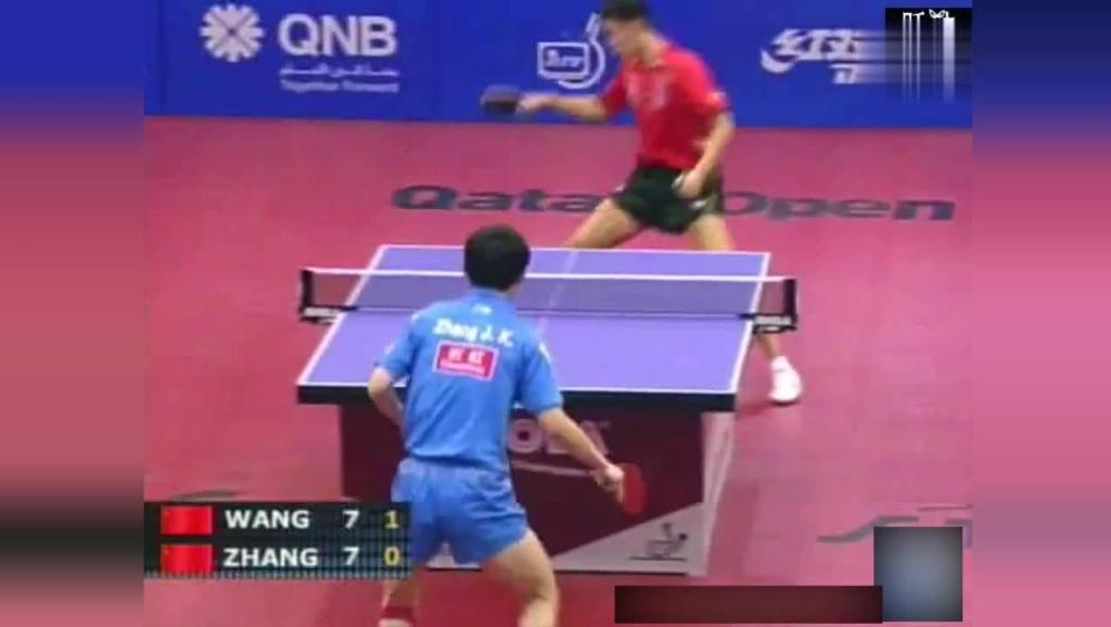 王励勤与张继科珍贵的比赛记录,两个时代的乒乓球领军人