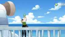 海贼王: 一向沉稳的索隆看到会自由泳的青蛙都坐不住了
