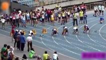小学100米决赛,这小伙跑出了博尔特的感觉,甩开第二名12米多!