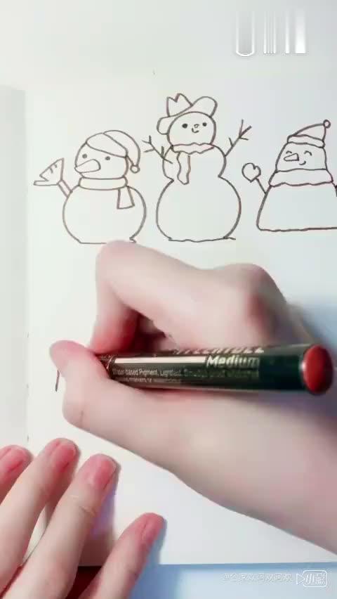 简单干净的海娜手绘纹身设计