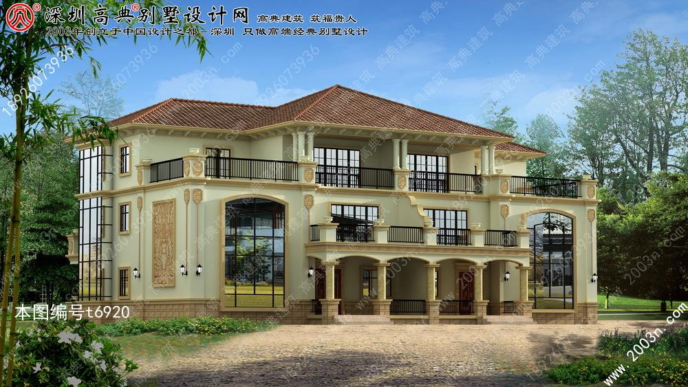 别墅设计图纸大全, 三层别墅外观效果图
