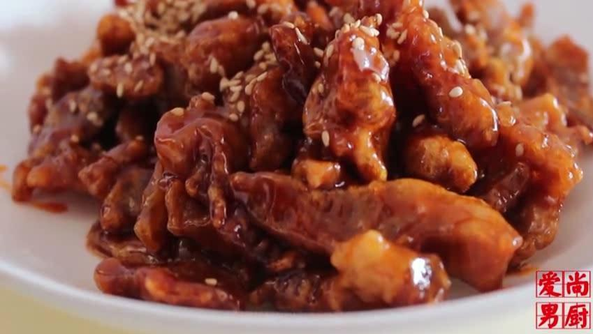 一块里脊肉,自己在家就可以做糖醋里脊,干净卫生,年夜饭必备!