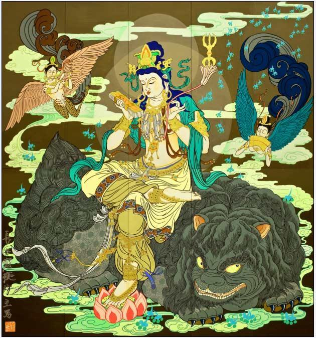 文殊藏菩萨纹身手稿分享展示