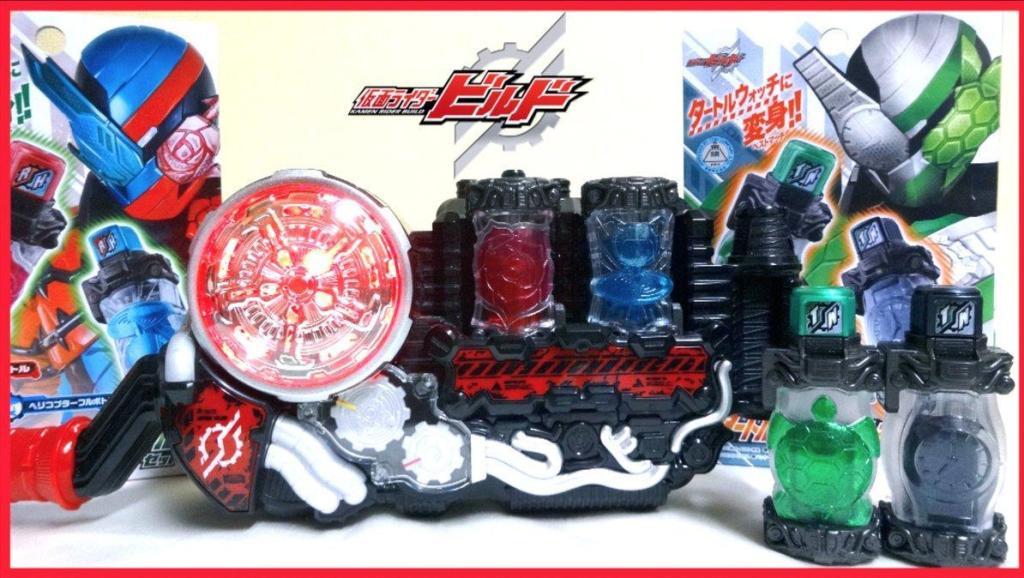 日本wotafa评测 假面骑士Build DX玫瑰直升机 满瓶饮料 & DX乌龟手表 满瓶饮料