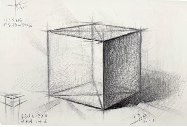 素描石膏像, 石膏像正方体画法步骤是怎样的?