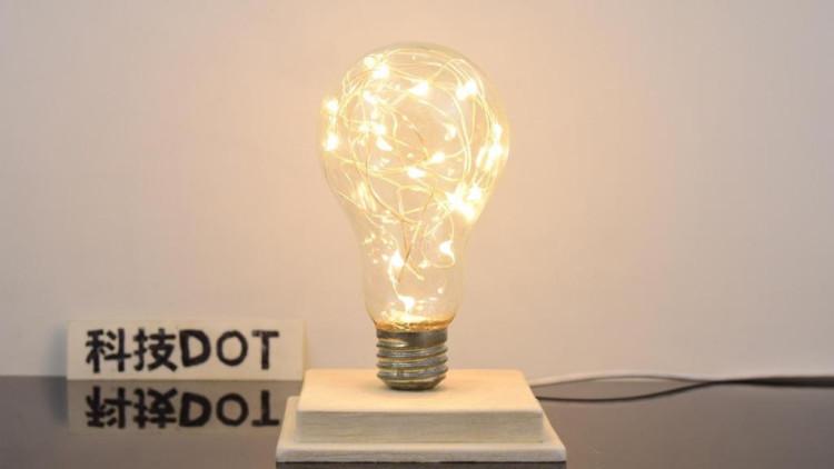 教你自制星光小夜灯 旧灯泡改造创意暖光护眼台灯diy制作