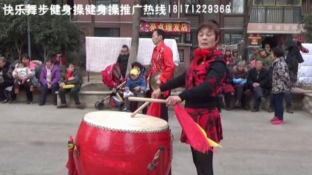 红红火火龙阳新村场1-威风锣鼓