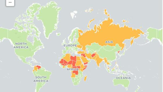 中国航班密度全球第二, 白俄罗斯人喝酒最多… 10张地图重看世界: