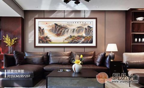 客厅挂的风水画-国画山水画装饰高雅风水好 - 微信奴