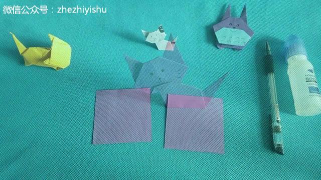 折纸教程-猫咪书签折法 diy折纸大全