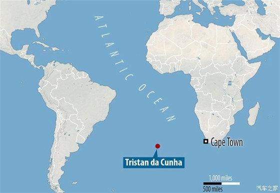 """先说说这个特里斯坦-达库尼亚群岛(名字太长了,简称""""特岛"""")在哪儿"""