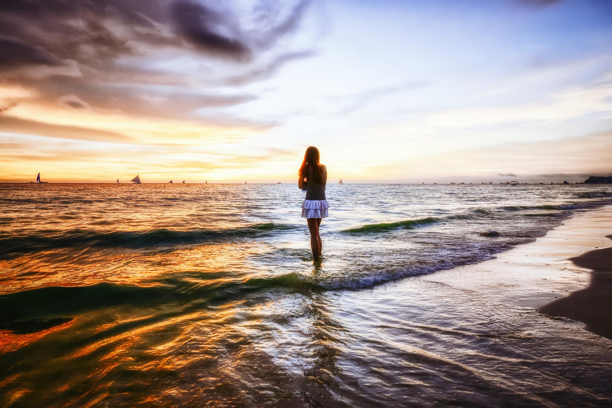 菲律宾长滩岛, 大海