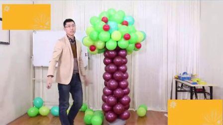 (78)12魔术气球造型图解 打开 魔法气球鸭子12魔术气球立柱小造型婚庆