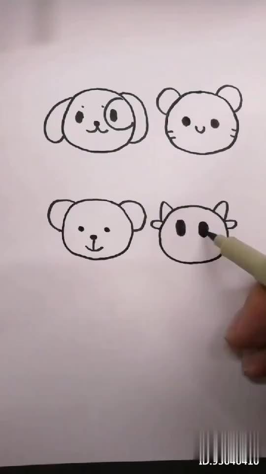 打开 打开 用圆画各种小动物,你认识几种呢?