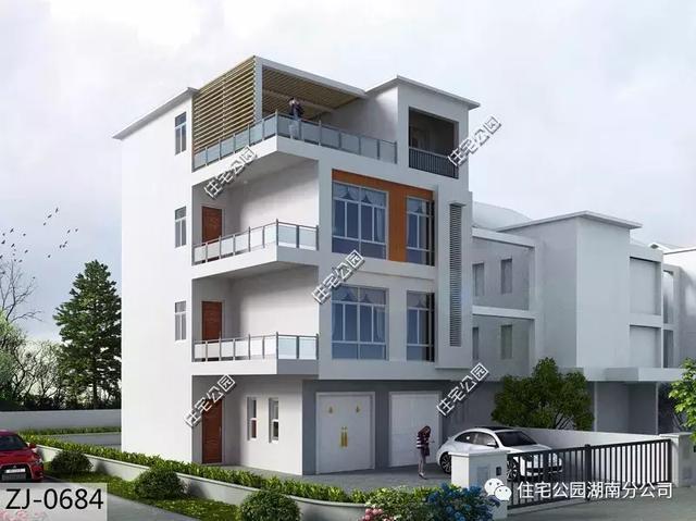 自建4层带商铺农村别墅, 这个设计太值了