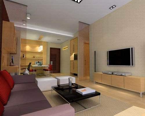 长方形客厅装修效果图分享打造恬淡美家
