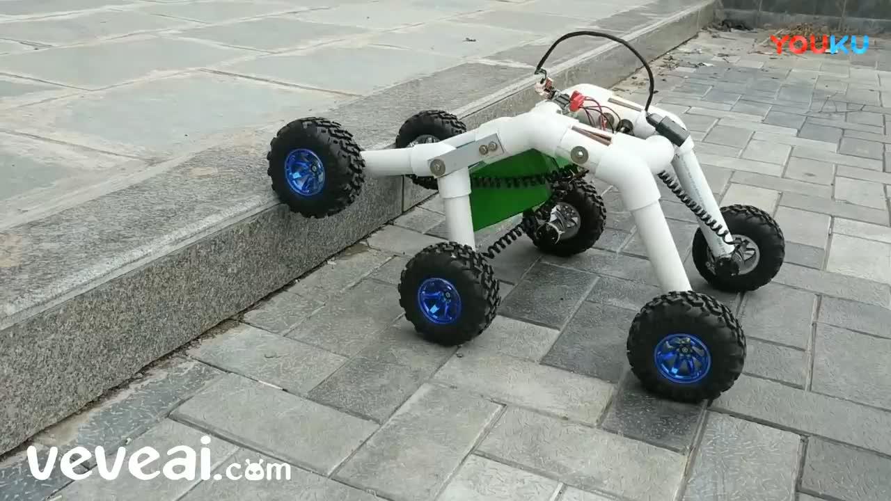 如何在家做摇杆转向机器人