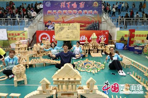 刘春蕾) 4月20日,寿光市幼儿园教师建构大赛在潍坊科技职业学院科技馆