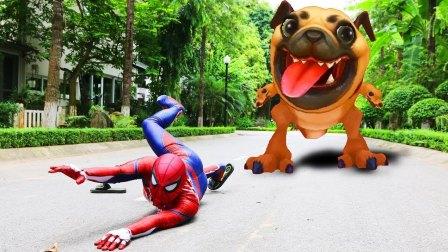 超级英雄 与 比特犬 狗 Superheroes vs PITBULL DOG