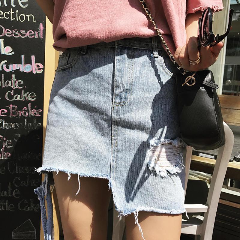 牛仔半身裙短裙_魅力牛仔半身裙, 彰显性感活力更秀长腿