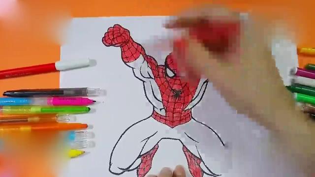 3ds colors 3d手绘过程(蜘蛛侠)