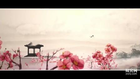 b288 ae模板 中国风古风梅花 花瓣飞舞 水墨传统民俗文化片头视频制作