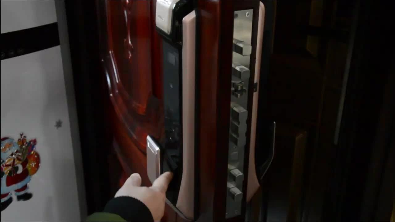 科裕智能锁X8指纹开锁演示