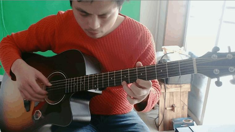 古典吉他独奏:秋日的私语(别了还来演奏)_土豆