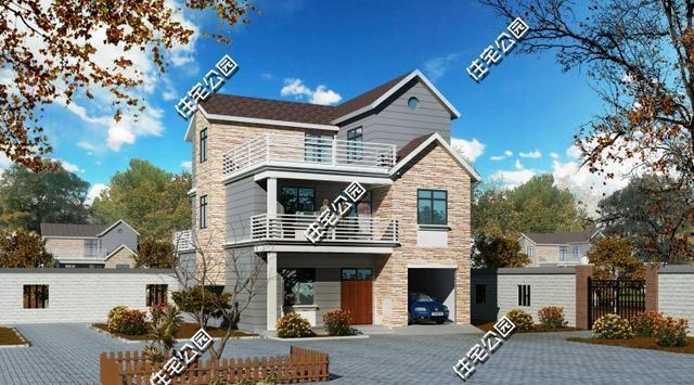 2017年9套三层别墅精选, 在农村建一套这样的要花多少