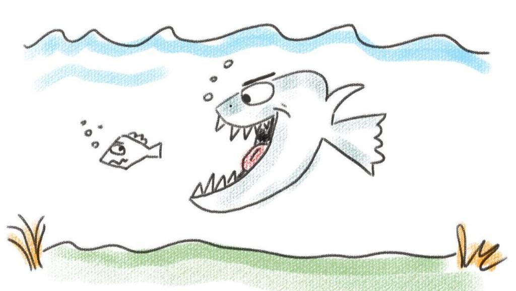 法制漫画 .小鱼的贪婪