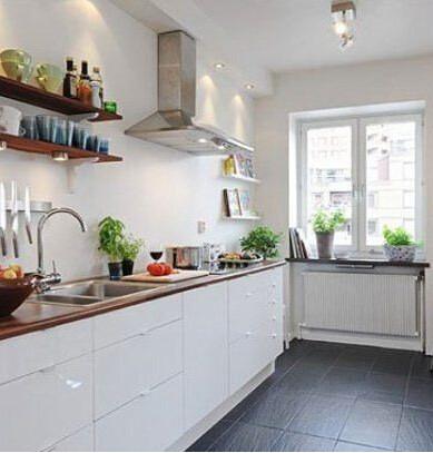 六款一字型厨房装修设计图 厨房虽小五脏俱全