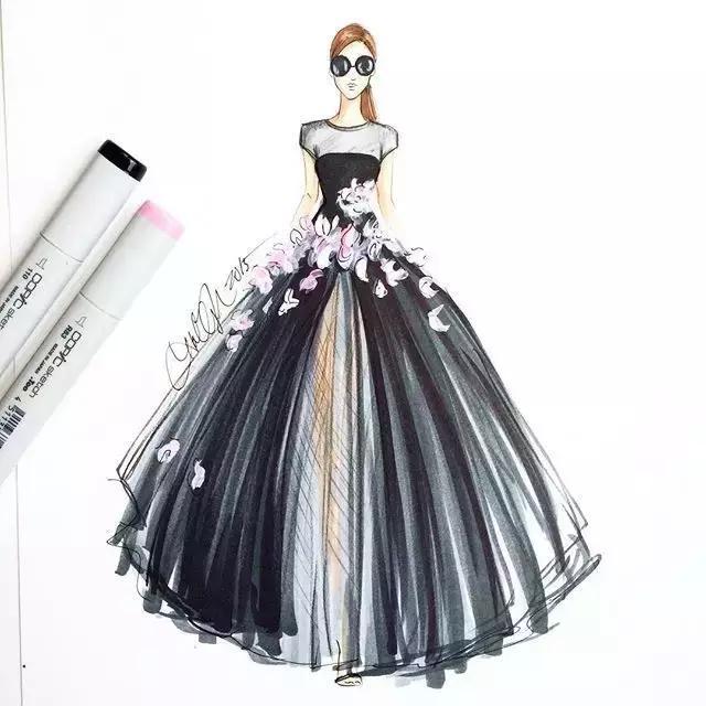 裙子设计图手绘