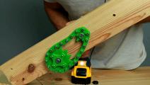 3D打印配件电钻做动力,小伙这滑板车做的够创意