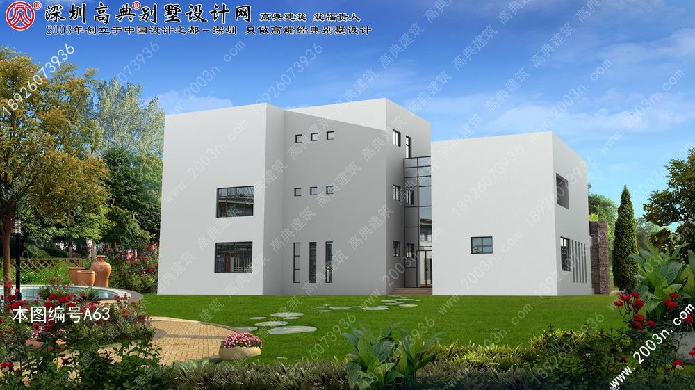 两层现代简约风格别墅外观更别致