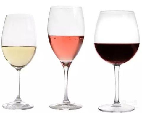 白葡萄酒 -> 桃红葡萄酒 -> 红葡萄酒 (以口感与酒体排序)
