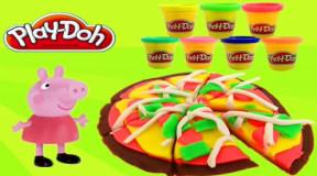 小猪佩奇培乐多彩泥粘土创意diy手工制作披萨饼 超级飞侠奇趣
