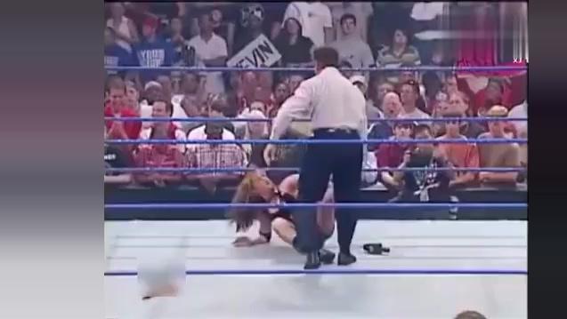 WWE布洛克被美女踢碎蛋 真是太狠了 暴揍美女还用台阶砸美女