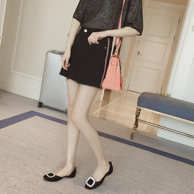 牛仔半身裙搭配_清新的浅色牛仔半身裙, 搭配各种衬衫或是打底衫都好看