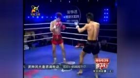 08年10月04日 武林风·功夫美少女 第三场 刘瑞光vs洪光