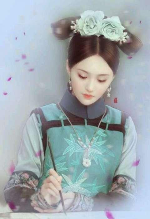 手绘画下的古装女星, 郑爽素雅迷人, 古力娜扎如画中仙!