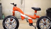 牛人给自行车加装摩托车轮胎,然后就飞一般的感觉